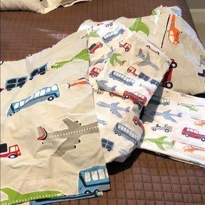 Pottery Barn kids airplane full size sheet set
